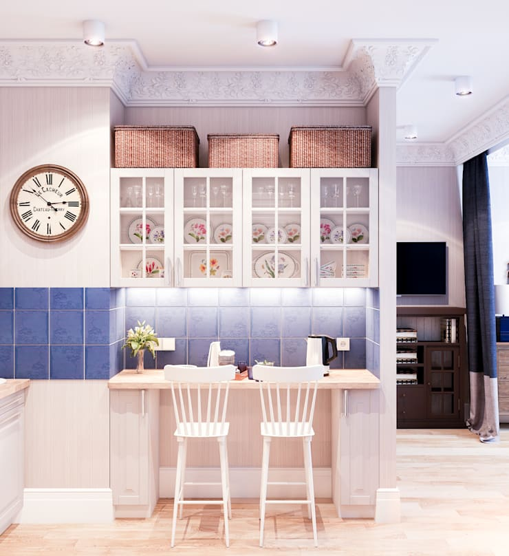 Deep Blue: Кухни в . Автор – Marina Sarkisyan, Эклектичный