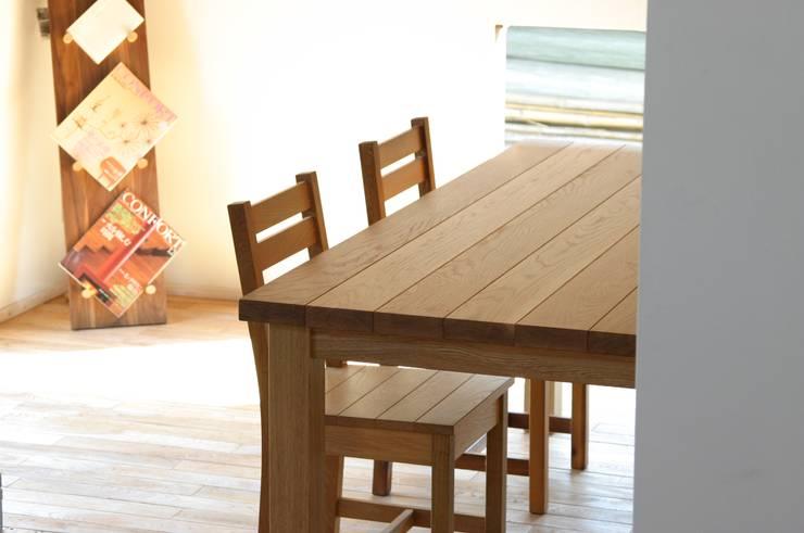 table: nokkaが手掛けたダイニングルームです。