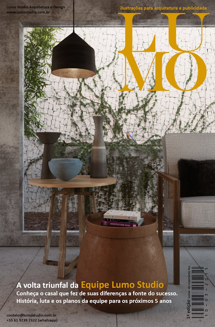 Revista Lumo Magazine 1ª edição: Jardins de inverno modernos por Edson Gomes Arquitetos Associados Construtora LTDA