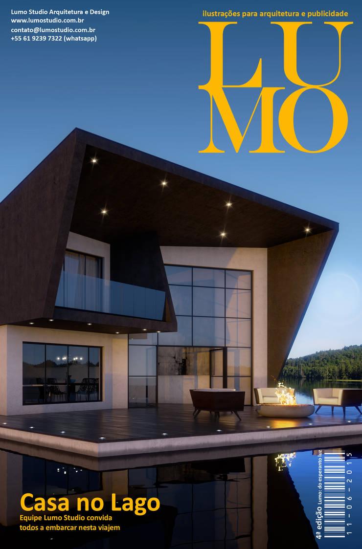 Revista Lumo Magazine 4ª edição: Terraços  por Edson Gomes Arquitetos Associados Construtora LTDA
