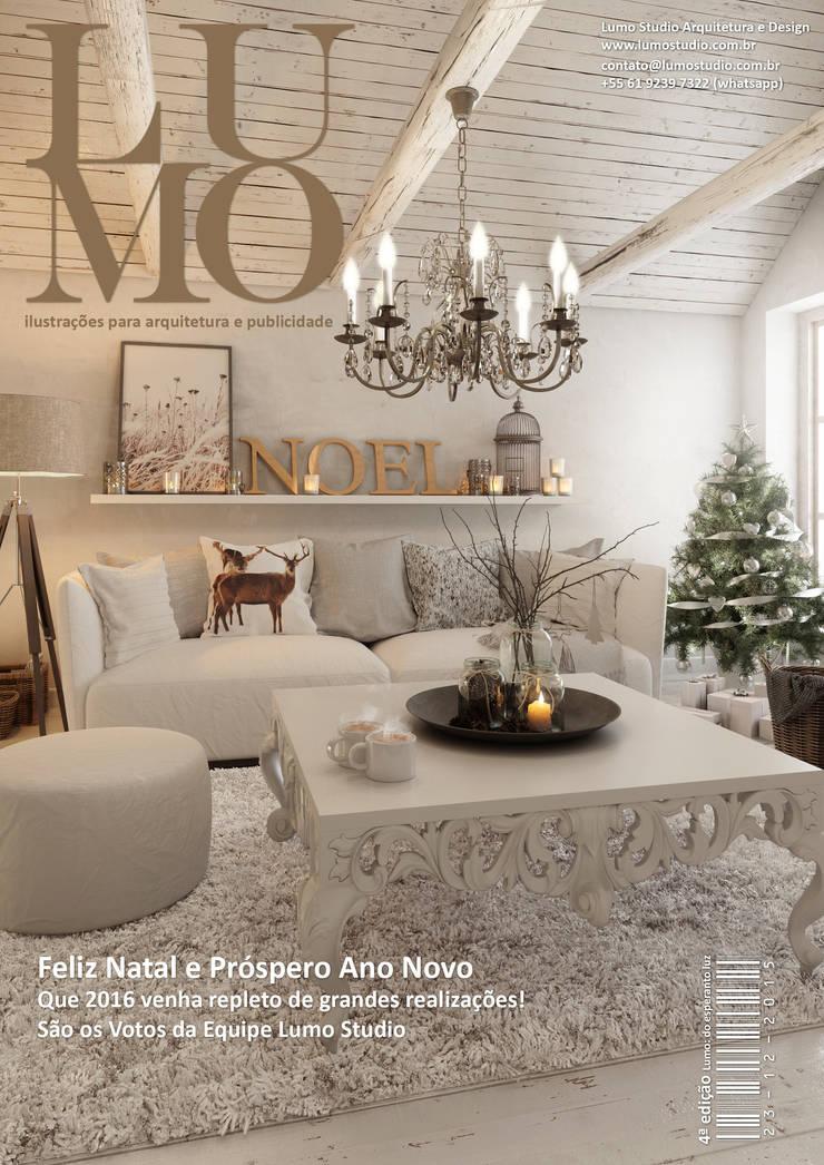 Revista Lumo Magazine 5ª edição: Salas de estar escandinavas por Edson Gomes Arquitetos Associados Construtora LTDA