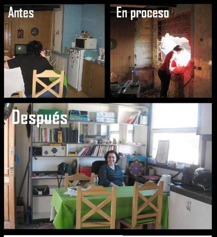 Remodelación comedor: Comedores de estilo  por Estela Ramírez, arquitecta.