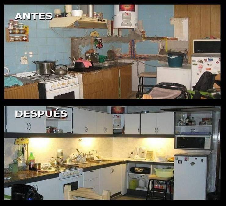 Remodelacón cocina: Cocinas de estilo  por Estela Ramírez, arquitecta.,Clásico Compuestos de madera y plástico