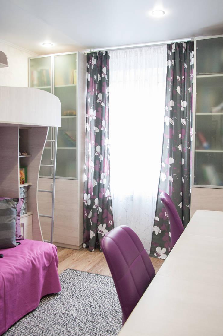 Комната для двух девочек подростков:  в . Автор – Мария Суслова, дизайн интерьеров Самара
