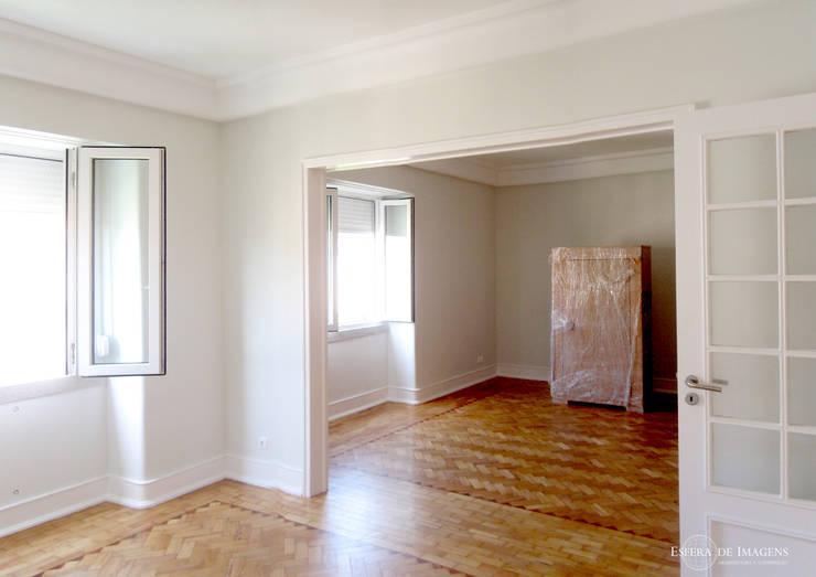 Remodelação de apartamento na Av. de Madrid:   por Esfera de Imagens Lda
