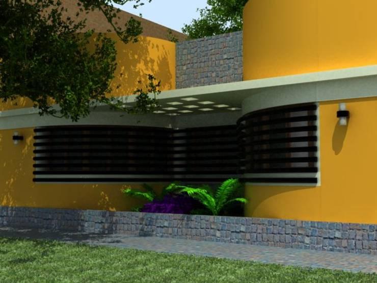 VIVIENDA UNIFAMILIAR / RENDERS: Casas de estilo  por CubiK
