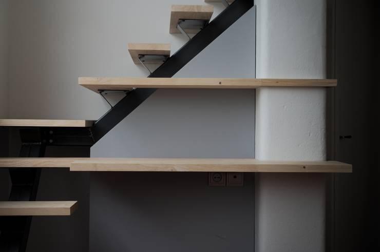 Projekty,  Korytarz, hol i schody zaprojektowane przez Thibaut Defrance - Cabestan,