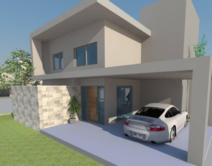 Fachada principal: Casas de estilo  por E+ arquitectura