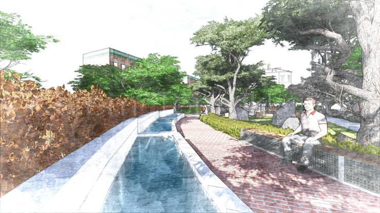 Kerem Toprakkaya – Ornamental Pool Sketch:  tarz Bahçe