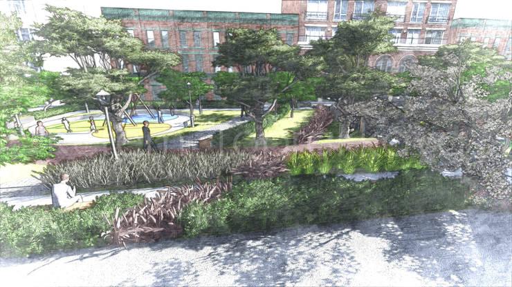 Kerem Toprakkaya – High View Perspective Sketch:  tarz Bahçe