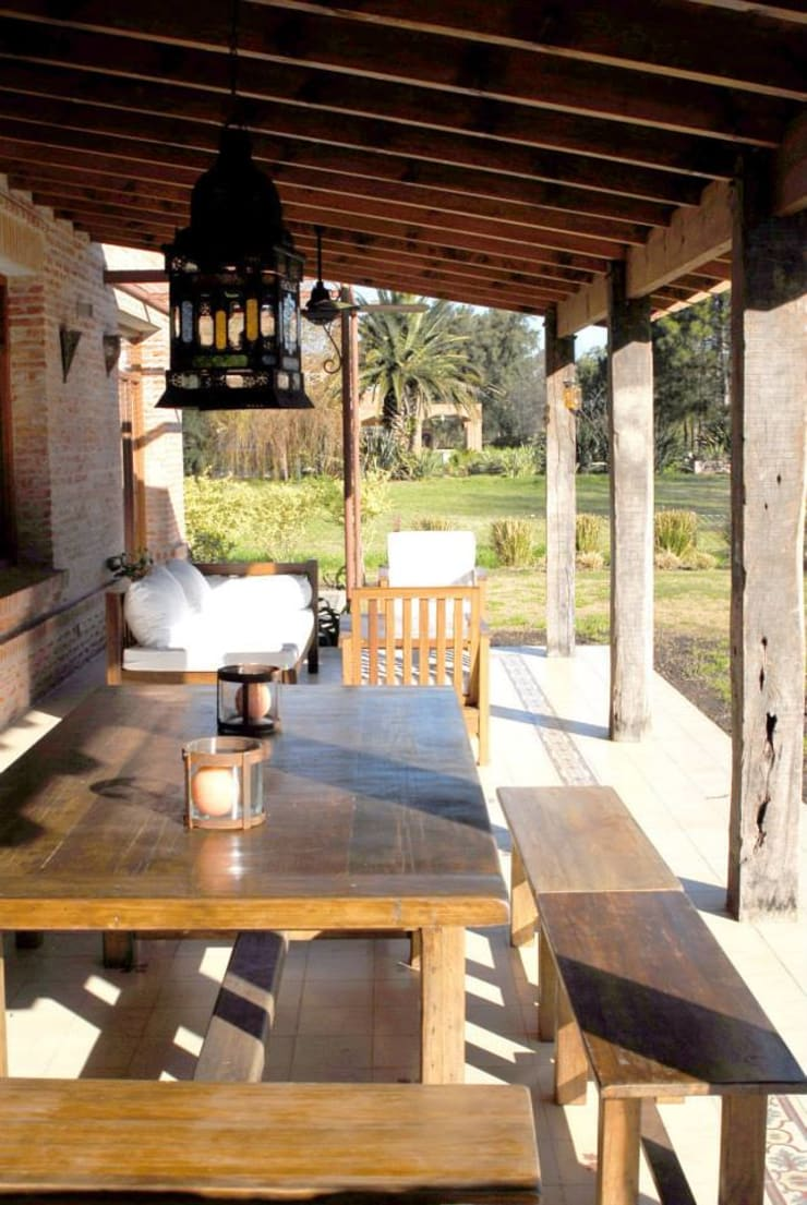 Casa Dodero: Terrazas de estilo  por Aulet & Yaregui Arquitectos,Moderno