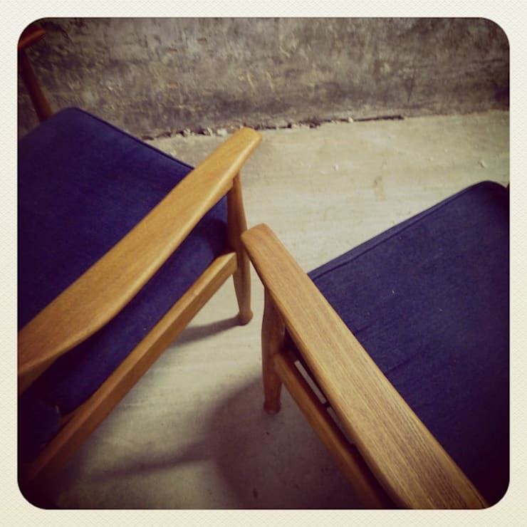 60´s Guy Rogers Reclinable Easy Chairs: Casa  por Retro Wood