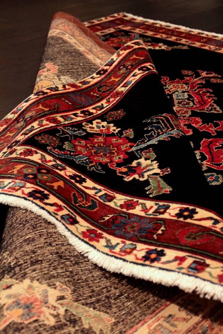 """Dywan irański """"Afszar"""": styl , w kategorii  zaprojektowany przez Sarmatia Trading,Wiejski Wełna Pomarańczowy"""