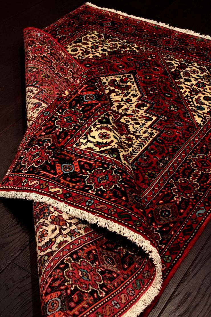 """Dywan irański """"Goltok/Golthogh"""": styl , w kategorii  zaprojektowany przez Sarmatia Trading,Klasyczny Wełna Pomarańczowy"""