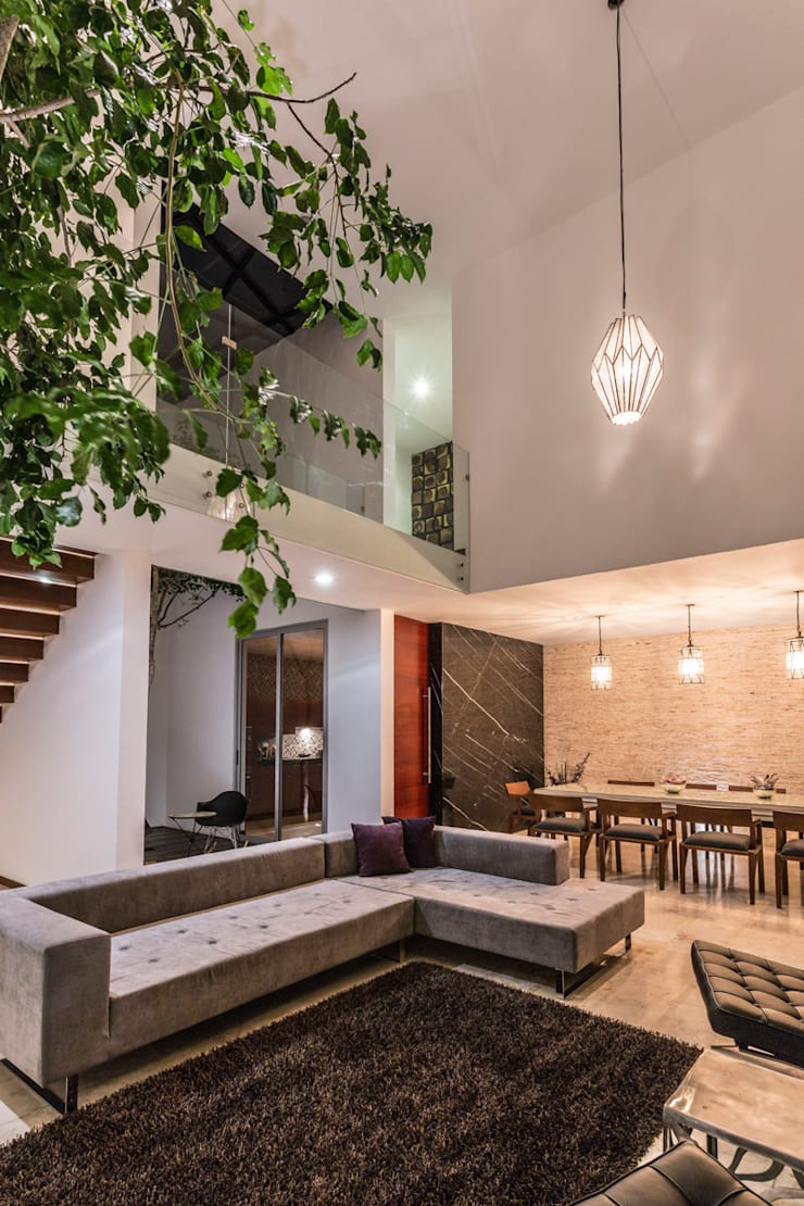 Living room by P11 ARQUITECTOS,