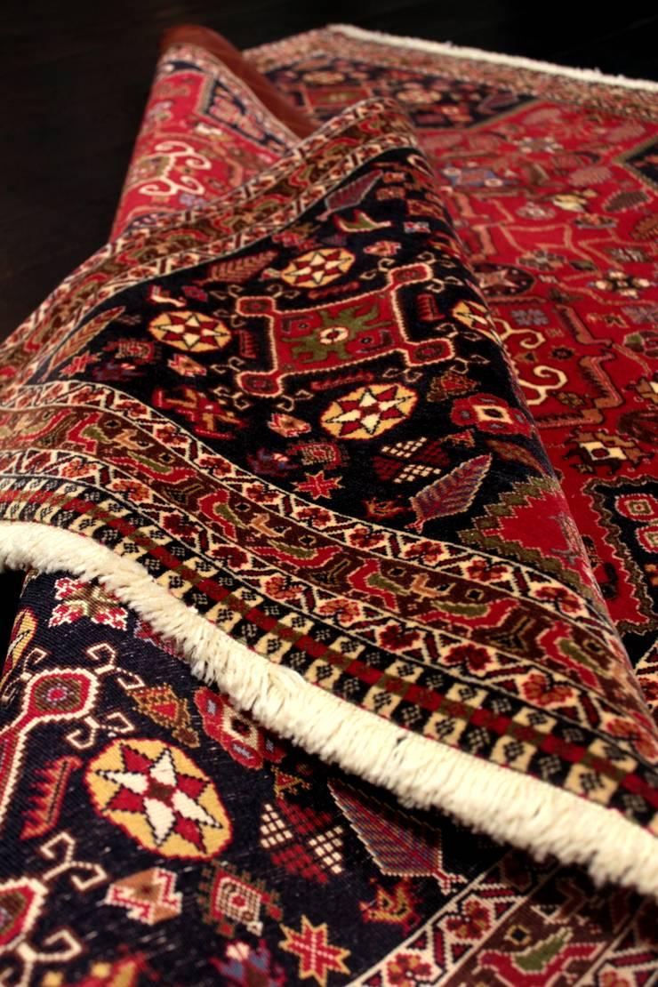"""Tradycyjny dywan irański """"Kaszkaj/Gashkouli"""": styl , w kategorii  zaprojektowany przez Sarmatia Trading,Klasyczny Wełna Pomarańczowy"""