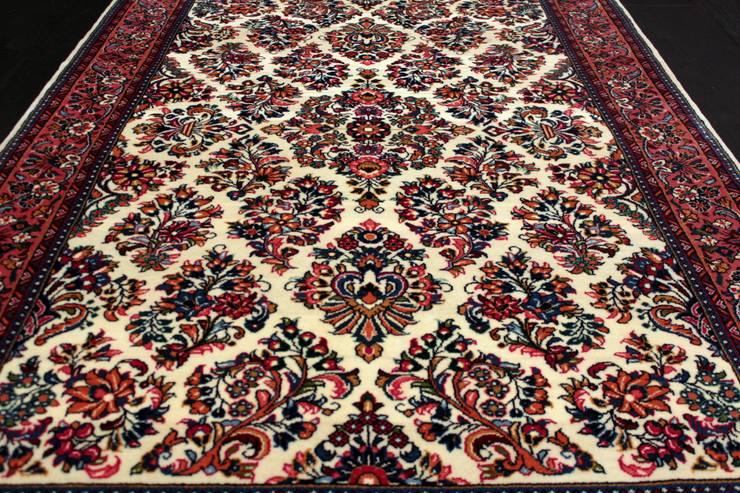 """Klasyczny dywan perski """"Saruk/Sarouk"""": styl , w kategorii  zaprojektowany przez Sarmatia Trading,Klasyczny Wełna Pomarańczowy"""
