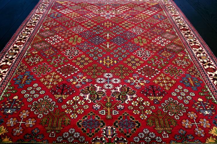"""Tradycyjny dywan perski """"Mimeh/Meymeh"""": styl , w kategorii  zaprojektowany przez Sarmatia Trading,Klasyczny Wełna Pomarańczowy"""