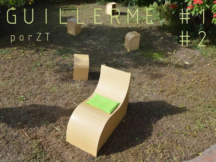 Guillerme: Jardines de estilo  por ZT . Diseño de mobiliario,