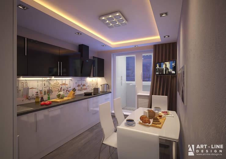 minimalistic Kitchen by Арт-лайн дизайн
