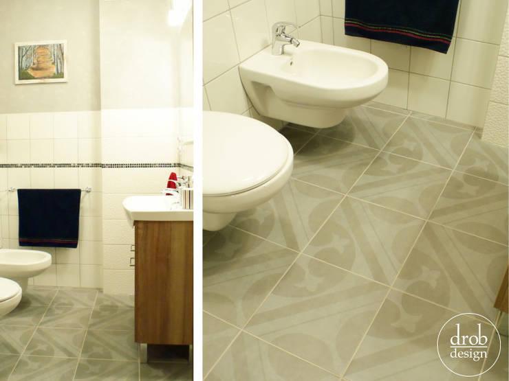 Łazienka na parterze: styl , w kategorii Łazienka zaprojektowany przez Drob Design ,Śródziemnomorski Ceramiczny