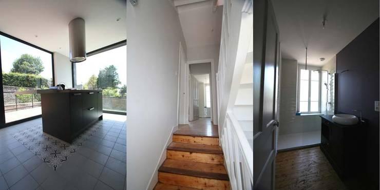 Rénovation d'une maison à Brest: Terrasse de style  par Trace & Associes architecture