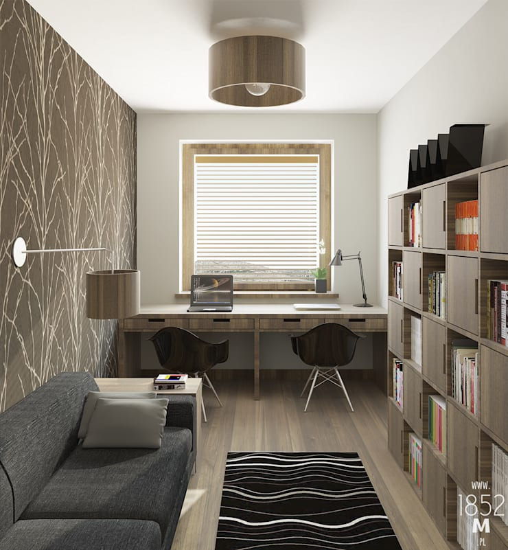 MIESZKANIE DOJRZAŁE: styl , w kategorii Domowe biuro i gabinet zaprojektowany przez 1852M,