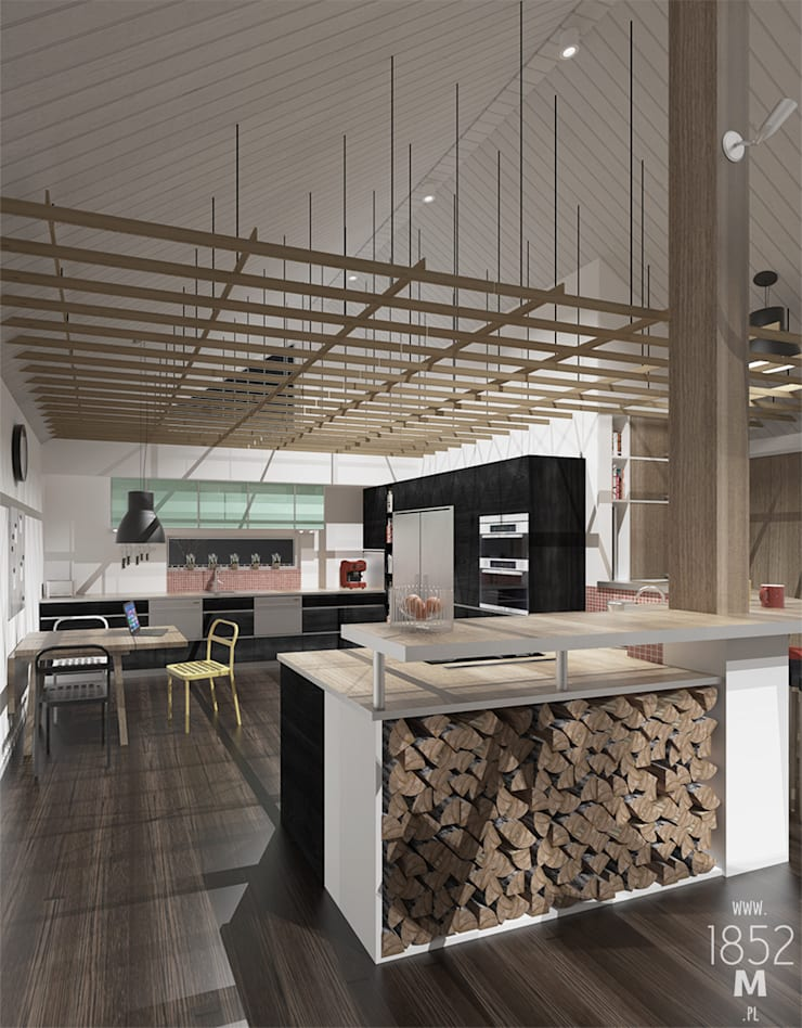 DOM W OSTERSUND: styl , w kategorii Kuchnia zaprojektowany przez 1852M