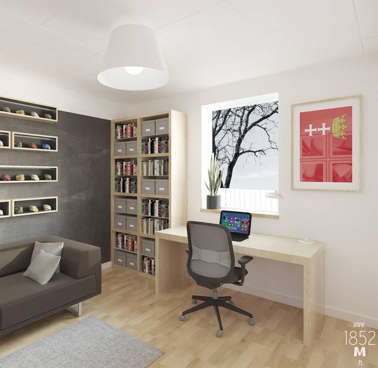DOM W OSTERSUND: styl , w kategorii Domowe biuro i gabinet zaprojektowany przez 1852M