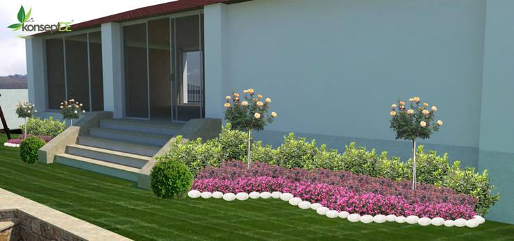 konseptDE Peyzaj Fidancılık Tic. Ltd. Şti. – Üst bahçe:  tarz Bahçe