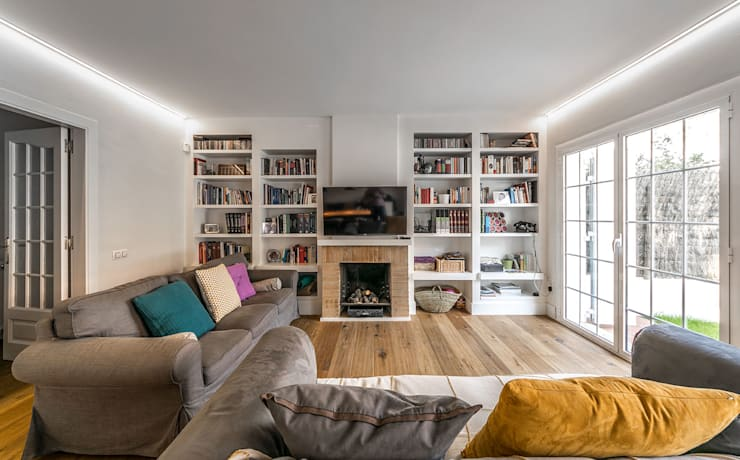 Livings de estilo  por 08023 Architects