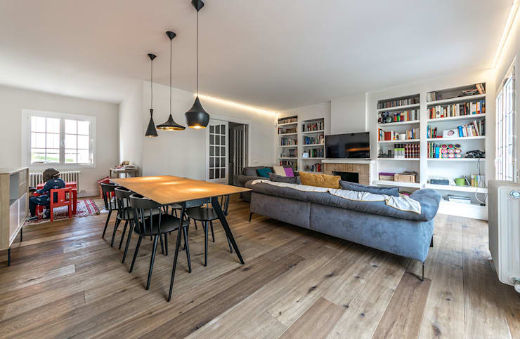 Livings de estilo moderno por 08023 Architects