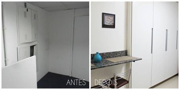 Antes e depois da reforma da copa por É! Arquitetura e Design Minimalista MDF