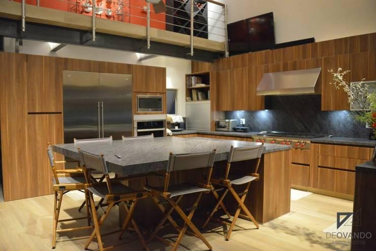 Pent House in Polanco Mexico City: Comedores de estilo  por De Ovando Arquitectos