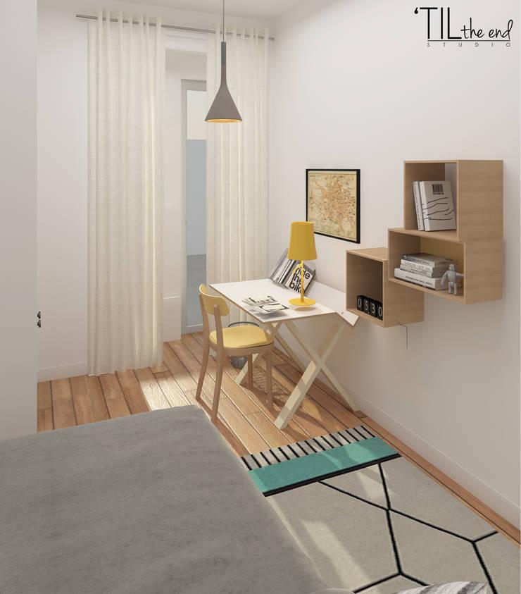 Chambre d'enfant scandinave par Lagom studio Scandinave Bois Effet bois