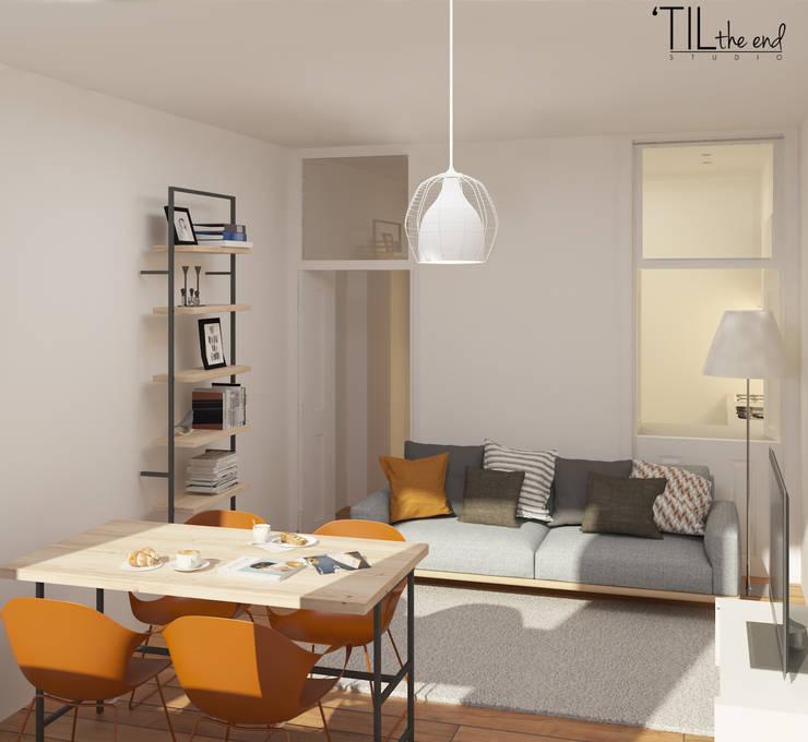 Salas de estilo  por Lagom studio