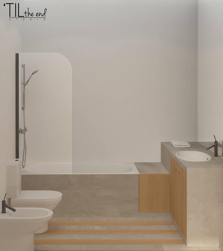 Salle de bain scandinave par Lagom studio Scandinave Béton