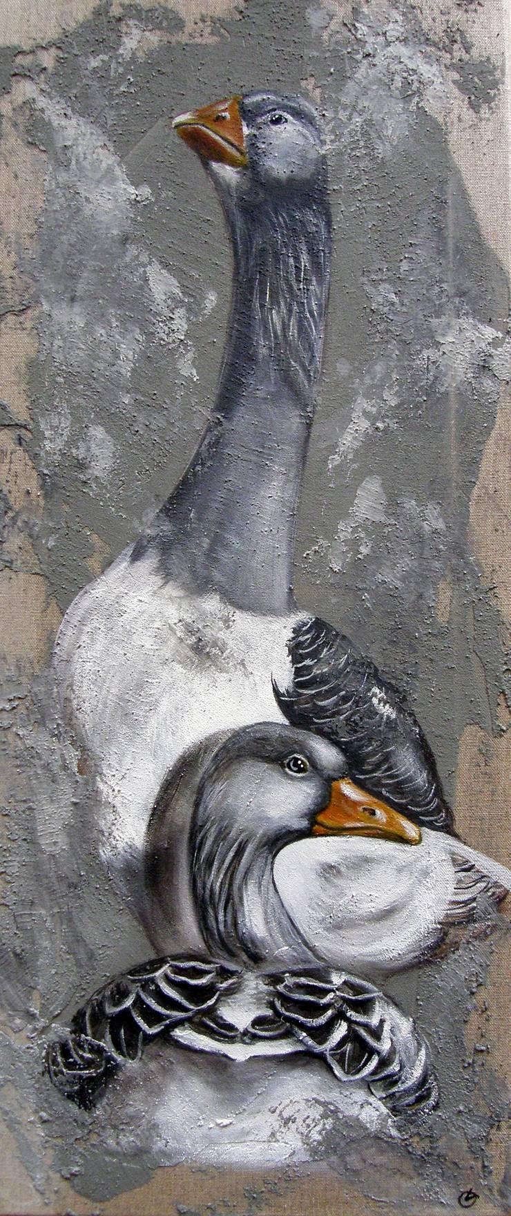 Les Pilou- Pilou par Odile Laresche Artiste Peintre Animalier Éclectique