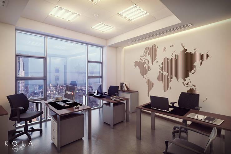 Office interiors: styl , w kategorii  zaprojektowany przez Kola Studio Architectural Visualisation