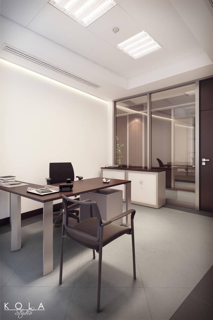 Office interiors - small room: styl , w kategorii  zaprojektowany przez Kola Studio Architectural Visualisation