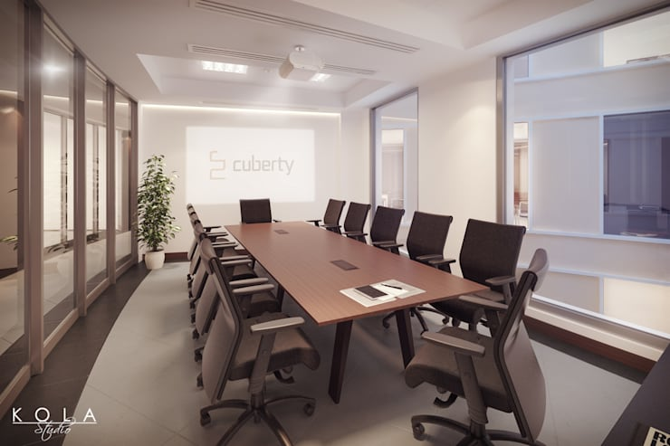 Office interiors - meeting room: styl , w kategorii  zaprojektowany przez Kola Studio Architectural Visualisation