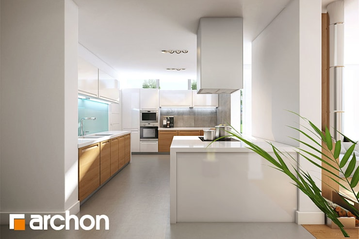 Projekt: Dom w borrago (G): styl , w kategorii  zaprojektowany przez ARCHON+ PROJEKTY DOMÓW