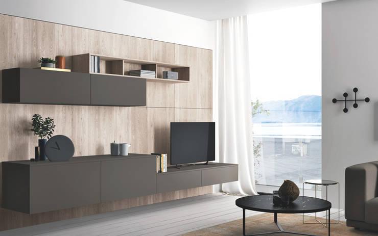 Ambiente Living (B) – panoramica: Soggiorno in stile  di Nova Cucina