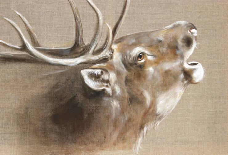Brame de Pierre par Odile Laresche Artiste Peintre Animalier Éclectique