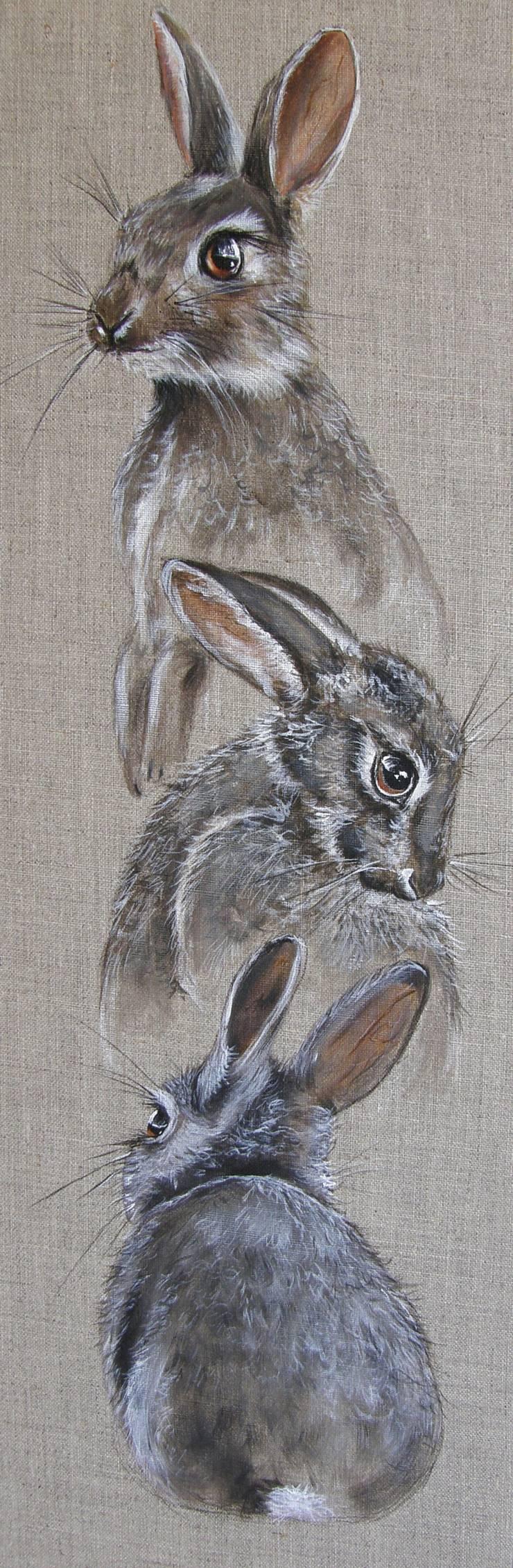 Lapin attitudes par Odile Laresche Artiste Peintre Animalier Éclectique