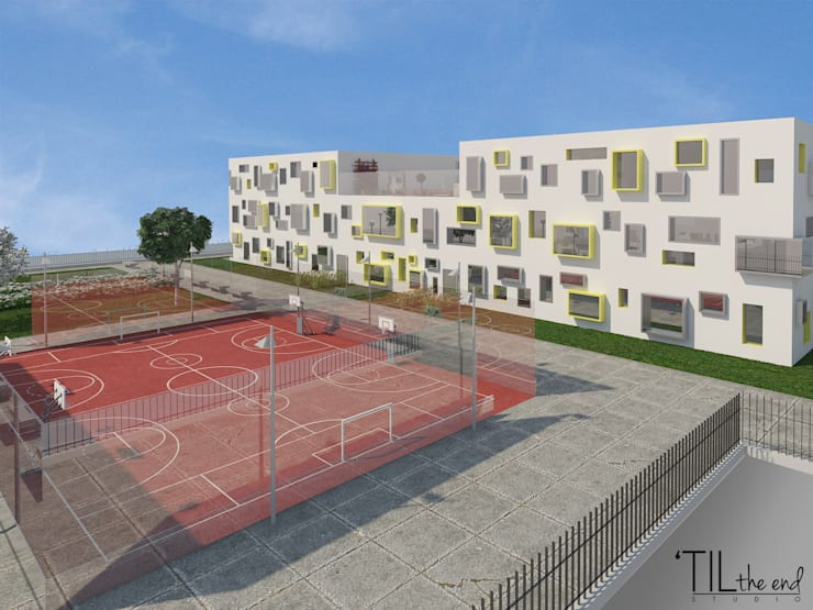 College in Luanda: Escolas  por Lagom studio