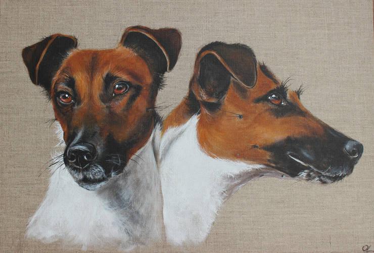 Fox Attitudes par Odile Laresche Artiste Peintre Animalier Éclectique