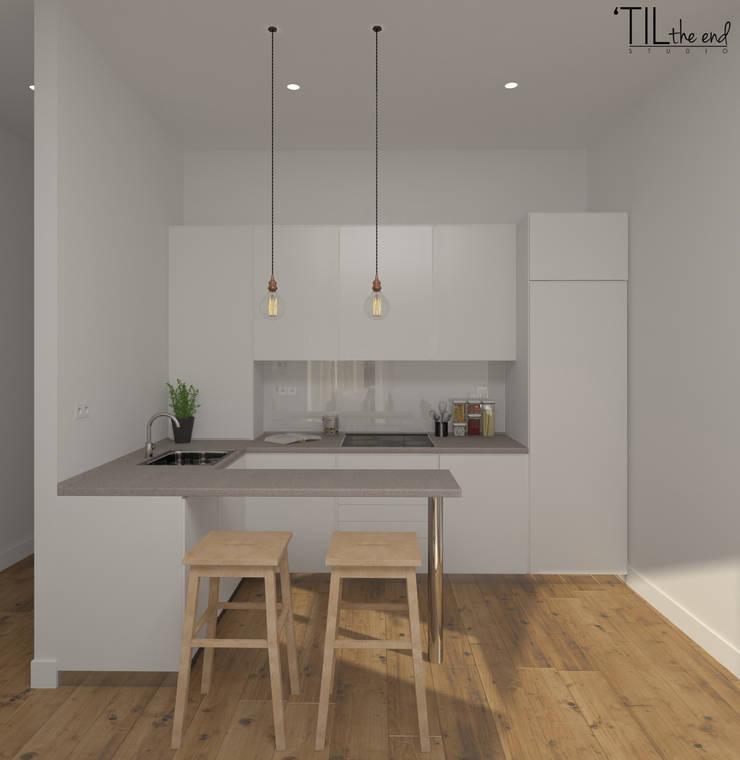 Apartment in Belém, Lisbon: Salas de estar  por Lagom studio