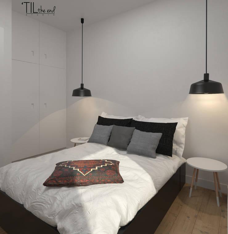 Apartment in Belém, Lisbon: Quartos  por Lagom studio