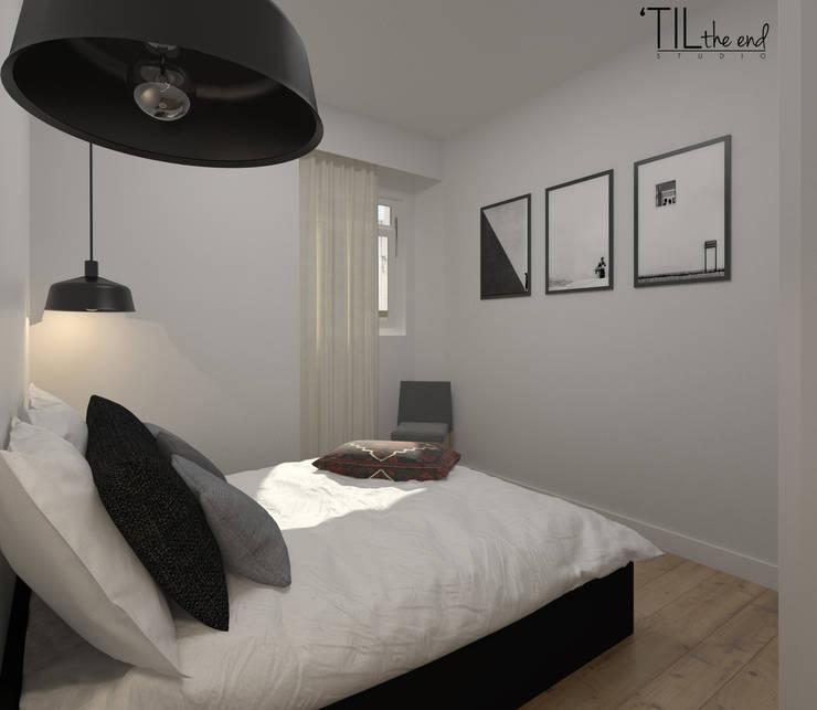 Apartment in Belém, Lisbon: Quartos escandinavos por Lagom studio